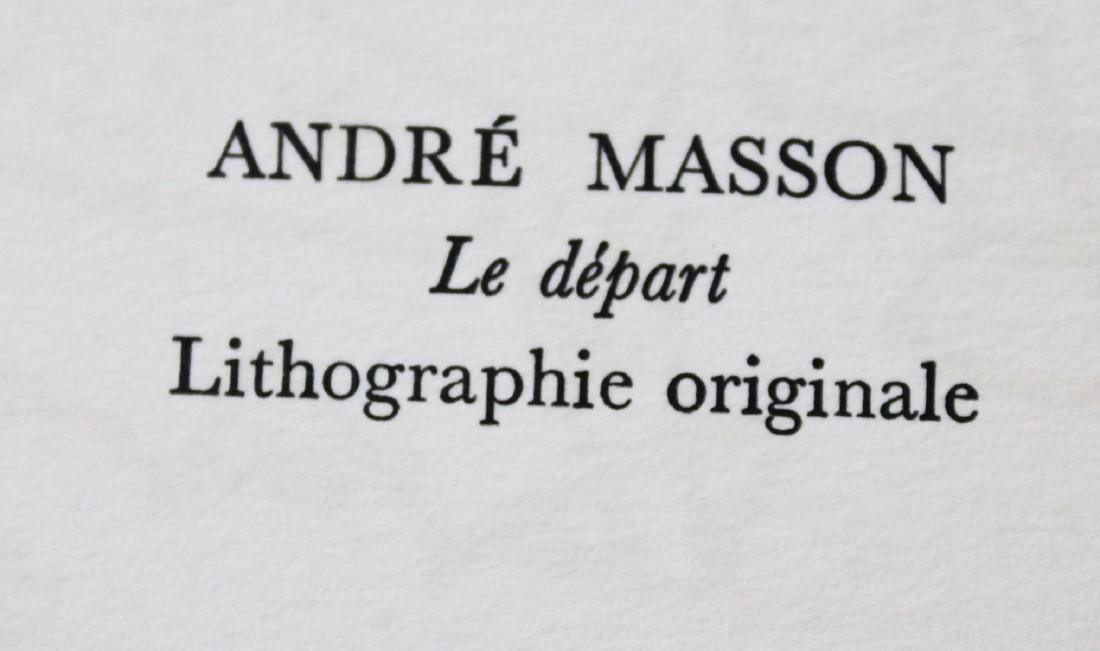 "Andre Masson - ""Le Depart - 2"