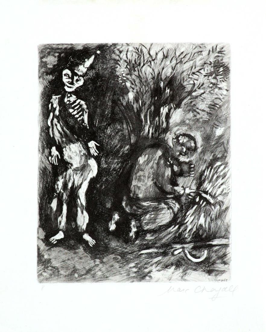 Marc Chagall - Death and Woodsman