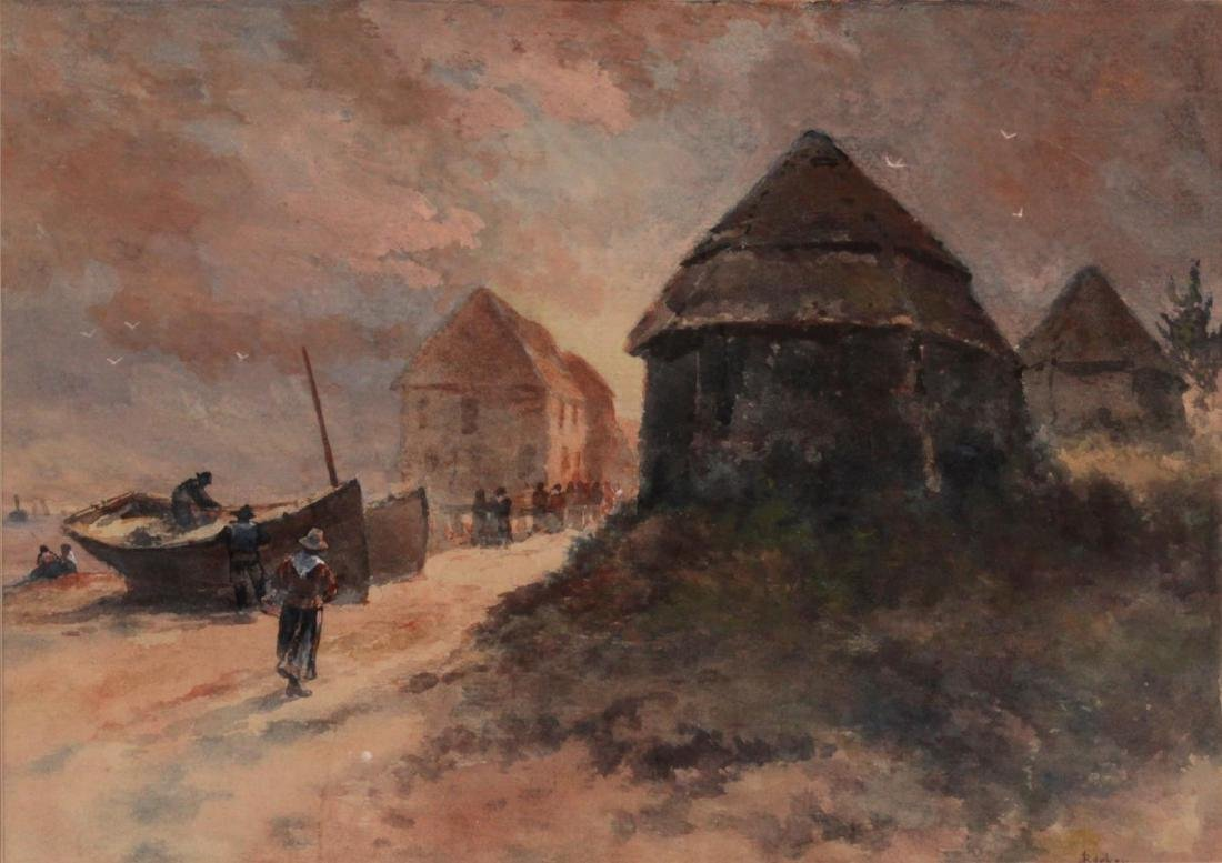Joseph Becker - Untitled watercolor landscape