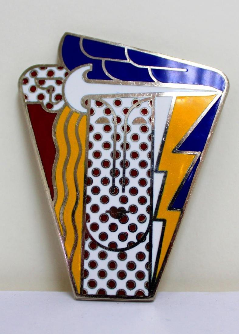 Roy Lichtenstein - Vintage Pop Art Brooch