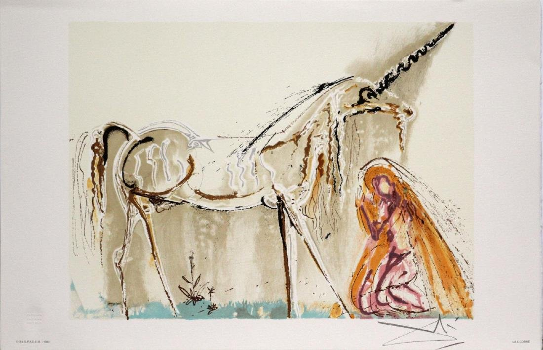 Salvador Dali (after)- The Unicorn
