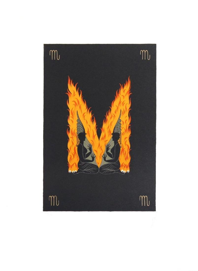 Erte - The Letter M