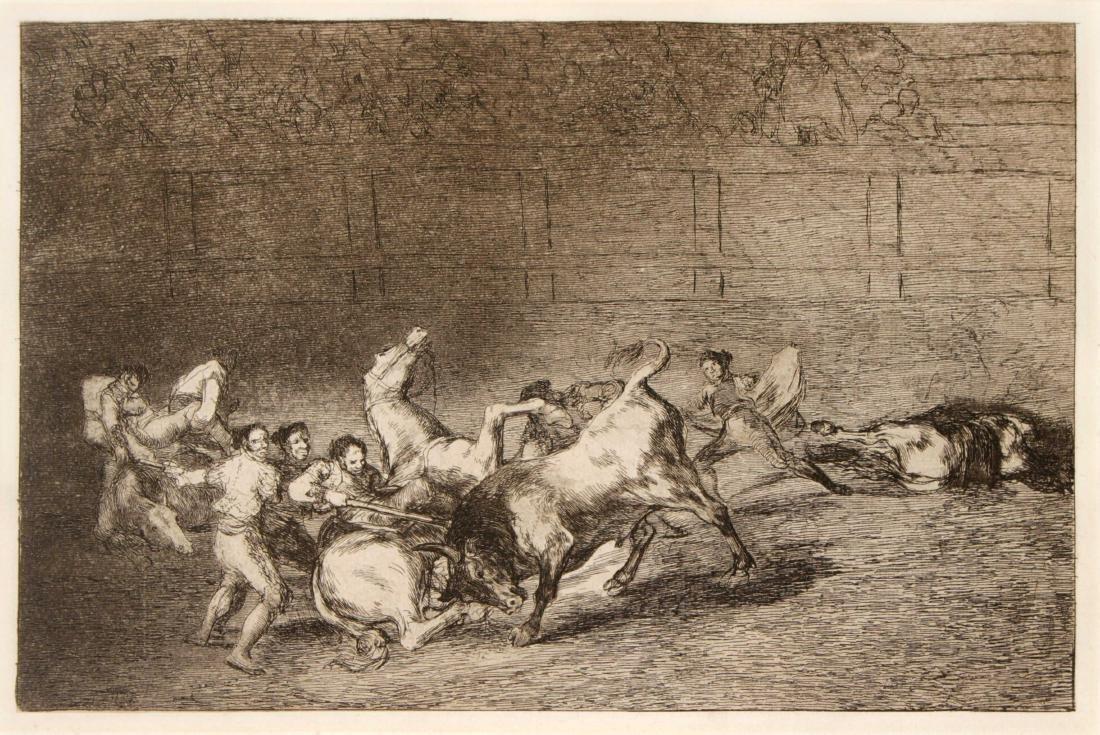 Francisco Goya - Dos grupos de picadors arrollados de