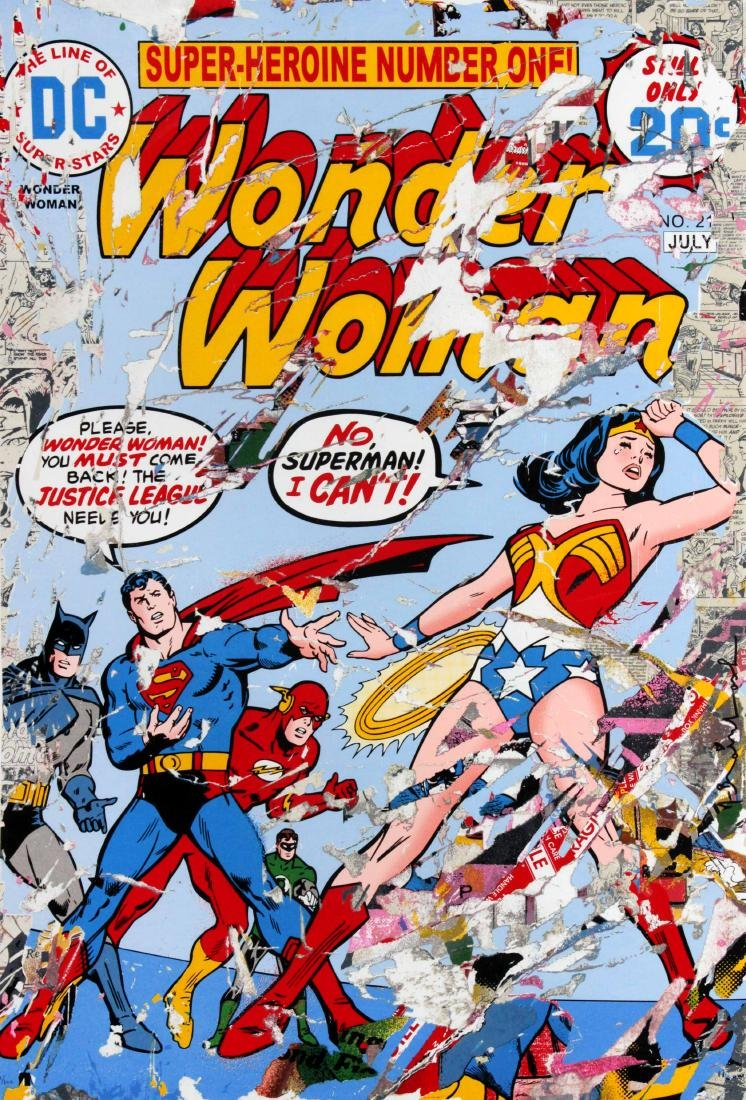 Mr. Brainwash - Justice League (Wonder Woman Superman)