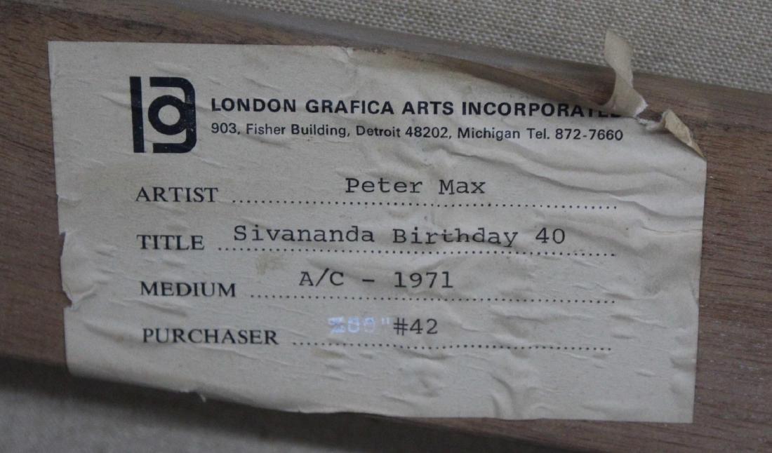 Peter Max - Peter Max - Sivananda Birthday - 3