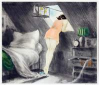 Louis Icart  Attic Room
