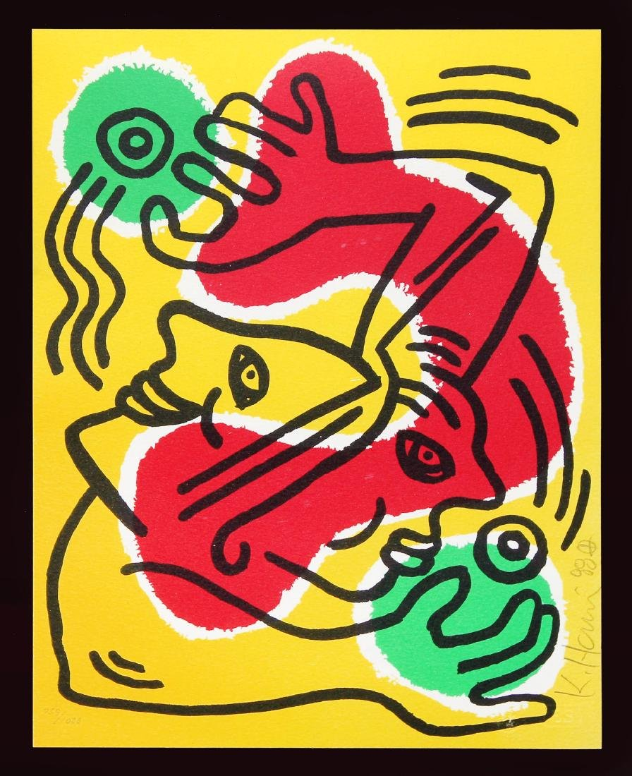 Keith Haring - International Volunteer Day (Lithograph - 2