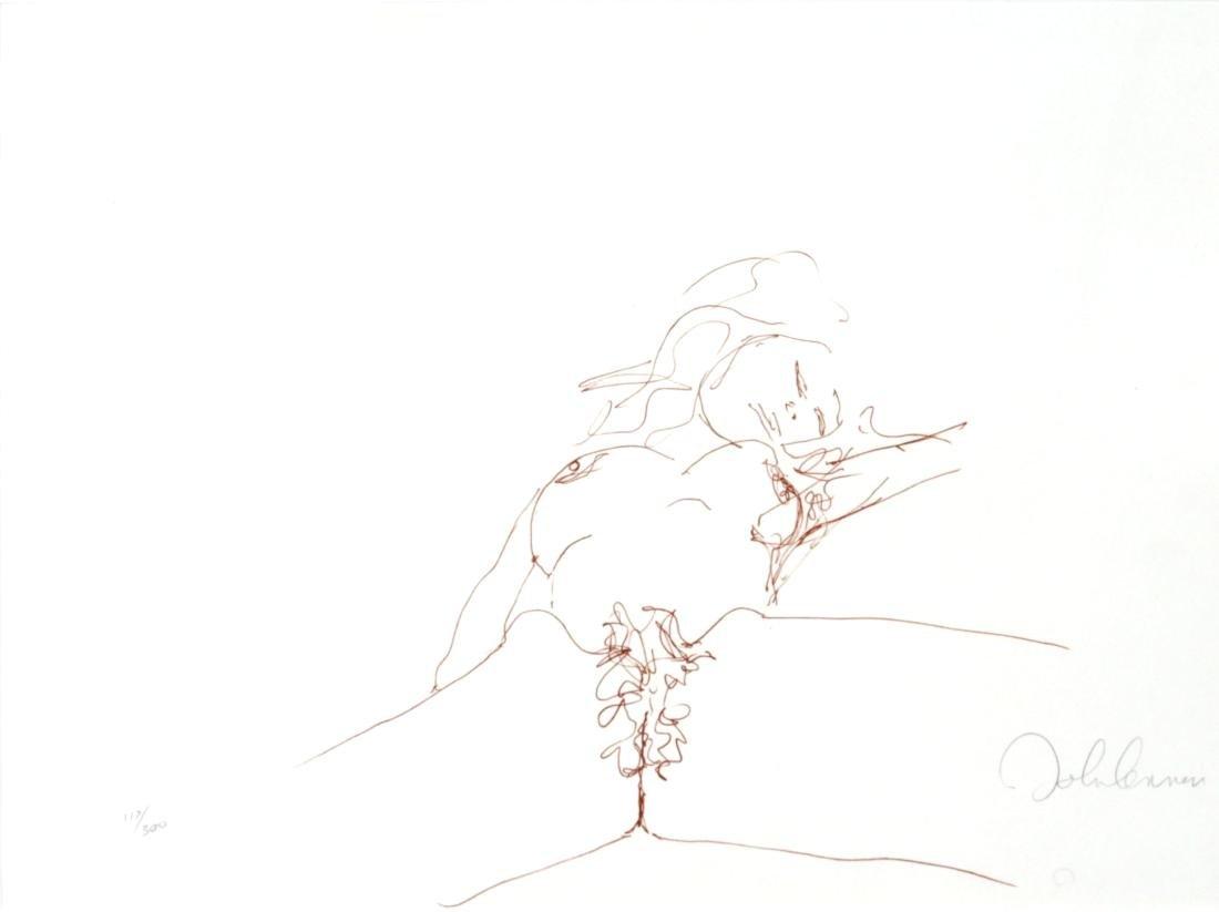 """John Lennon - Hand Signed Lithograph from """"Bag One"""""""