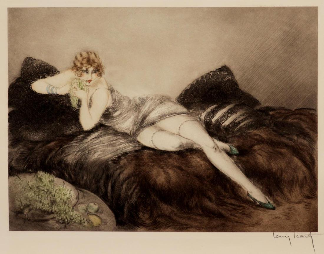 Louis Icart - Women with Grapes