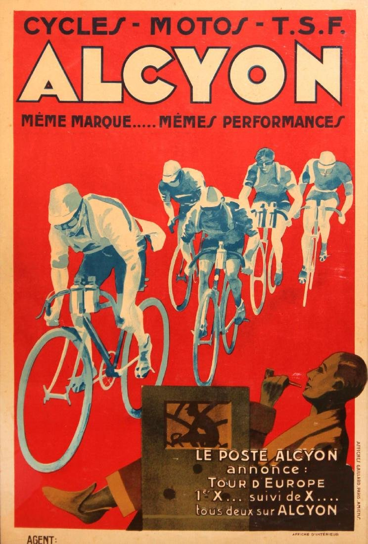 Affiches Gaillard - Alcyon Cycles