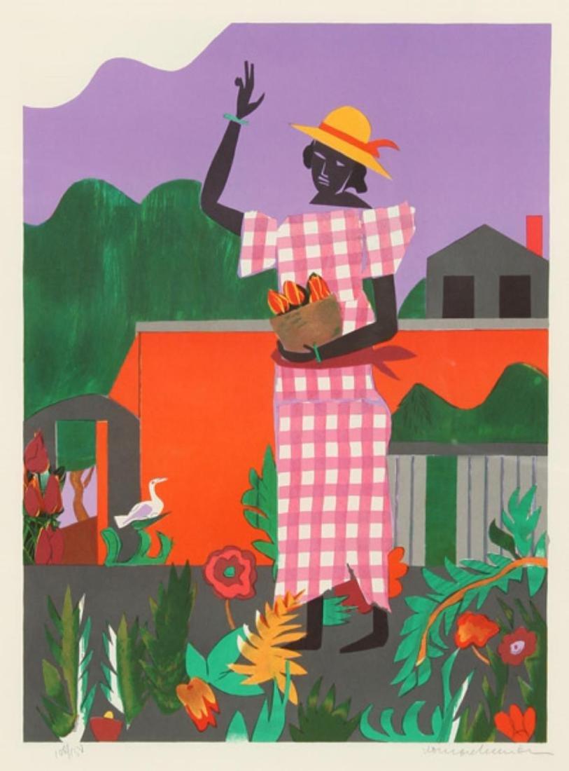Romare Bearden - Girl in the Garden