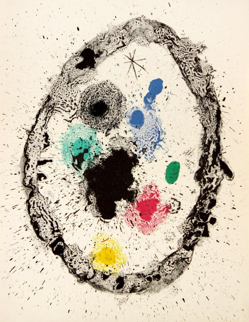 "Joan Miro - Untitled from ""Je travaille comme un"