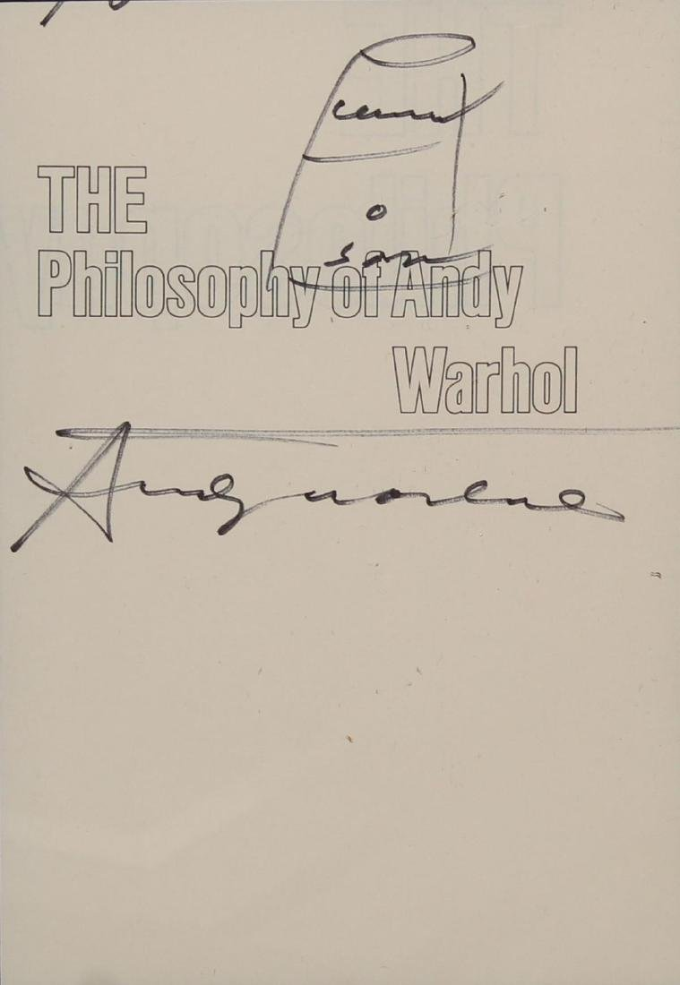 """Andy Warhol - """"The Philosophy of Andy Warhol"""" Original"""