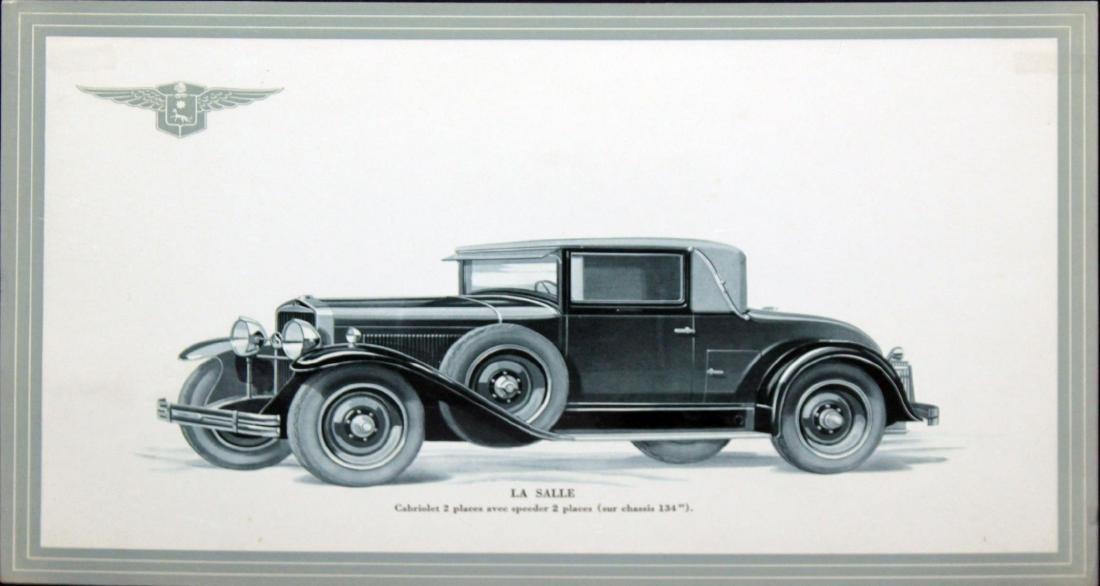 Vintage Car Showroom Lithograph - Original La Salle Ad