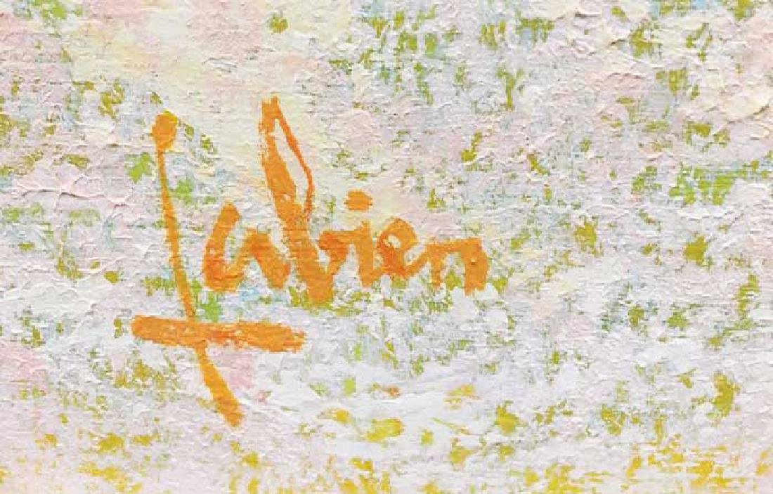 "Louis Fabien Original Oil ""Untitled (Beach Scene)"" - 2"