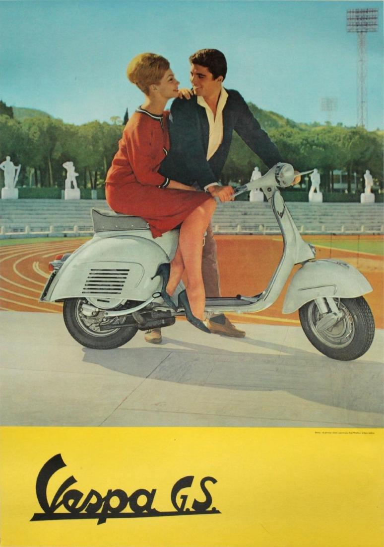 Vintage Poster - Vespa GS Ad