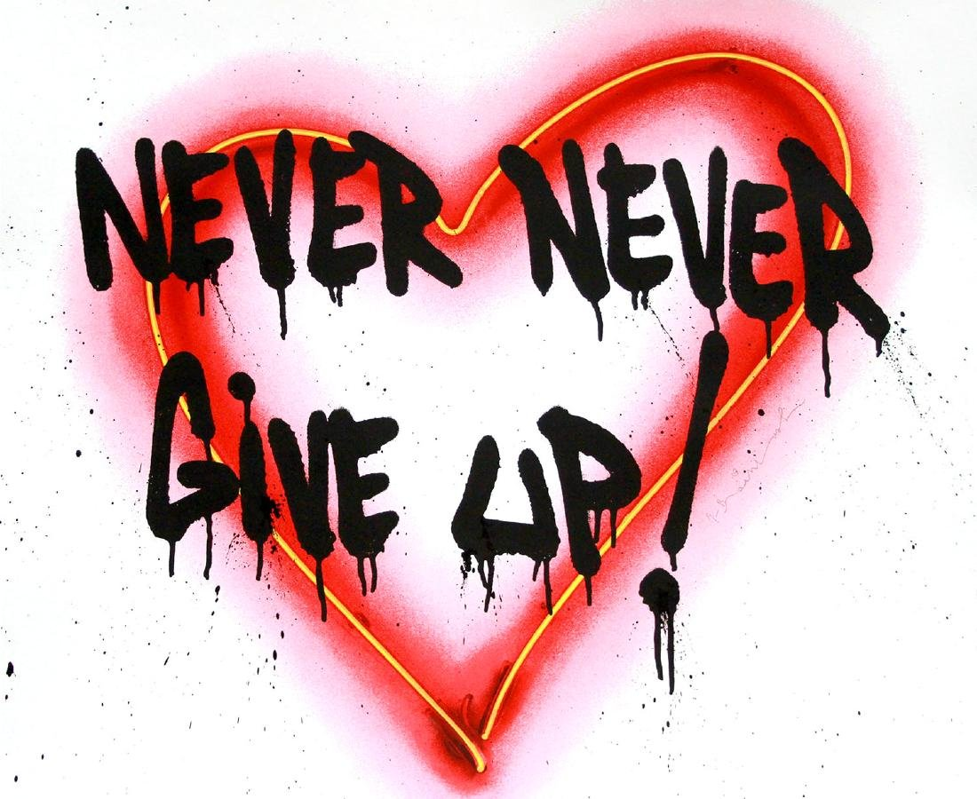 Mr. Brainwash- Speak from the Heart (Never Give Up)