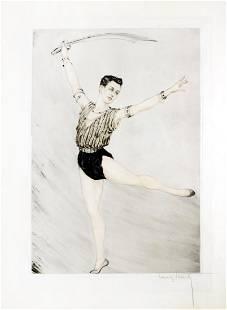 Louis Icart Nijinsky Russian Ballet Dancer