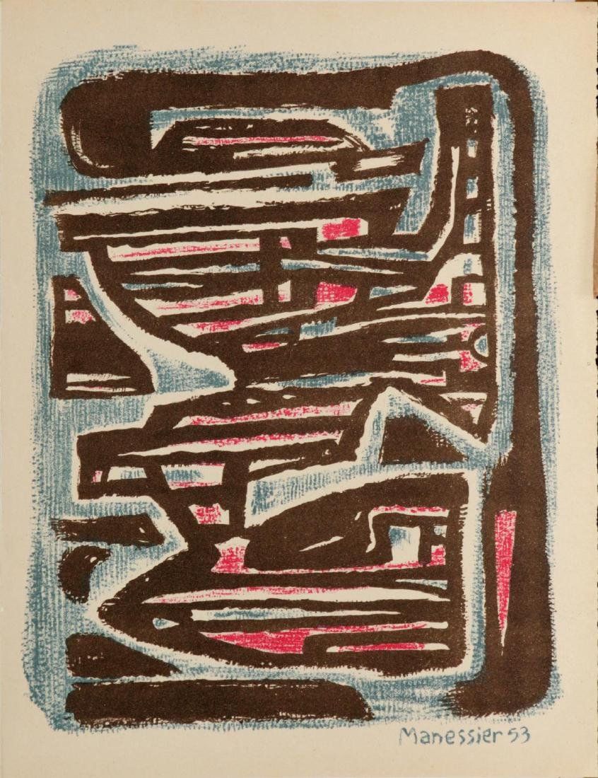"""Alfred Manessier - Untitled from """"XXeme Siecle No. 4"""""""