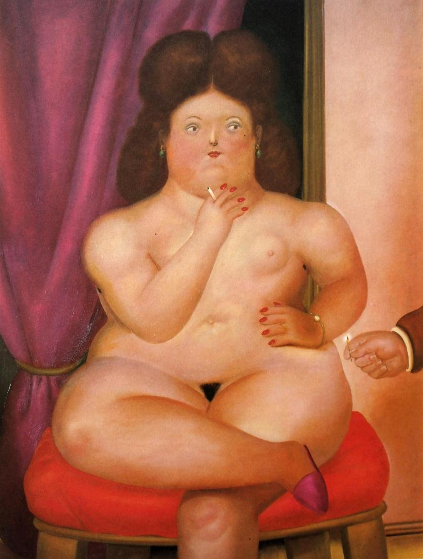 Fernando Botero (after) - Seated Woman