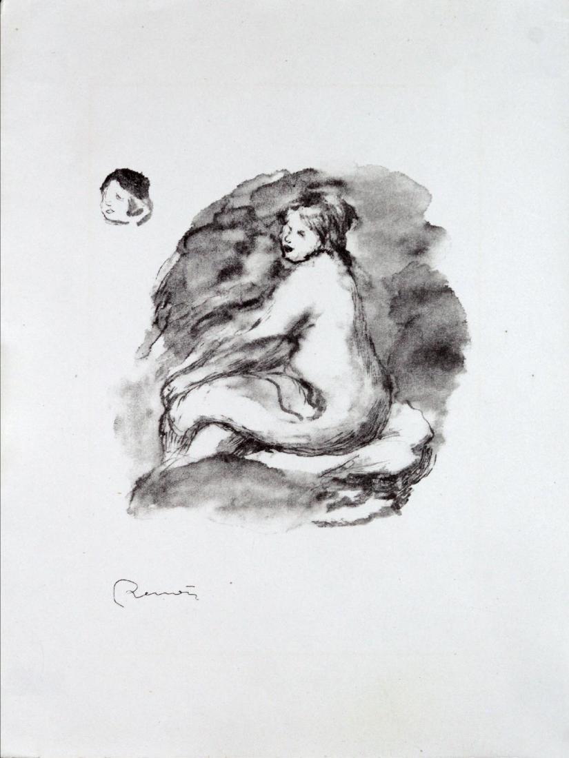 Pierre-Auguste Renoir - Etude de femme nue assise