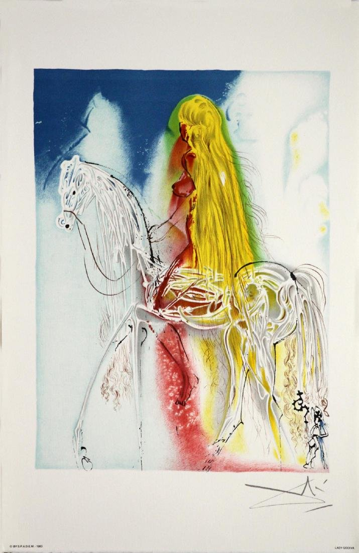 Salvador Dali (After) - Lady Godiva