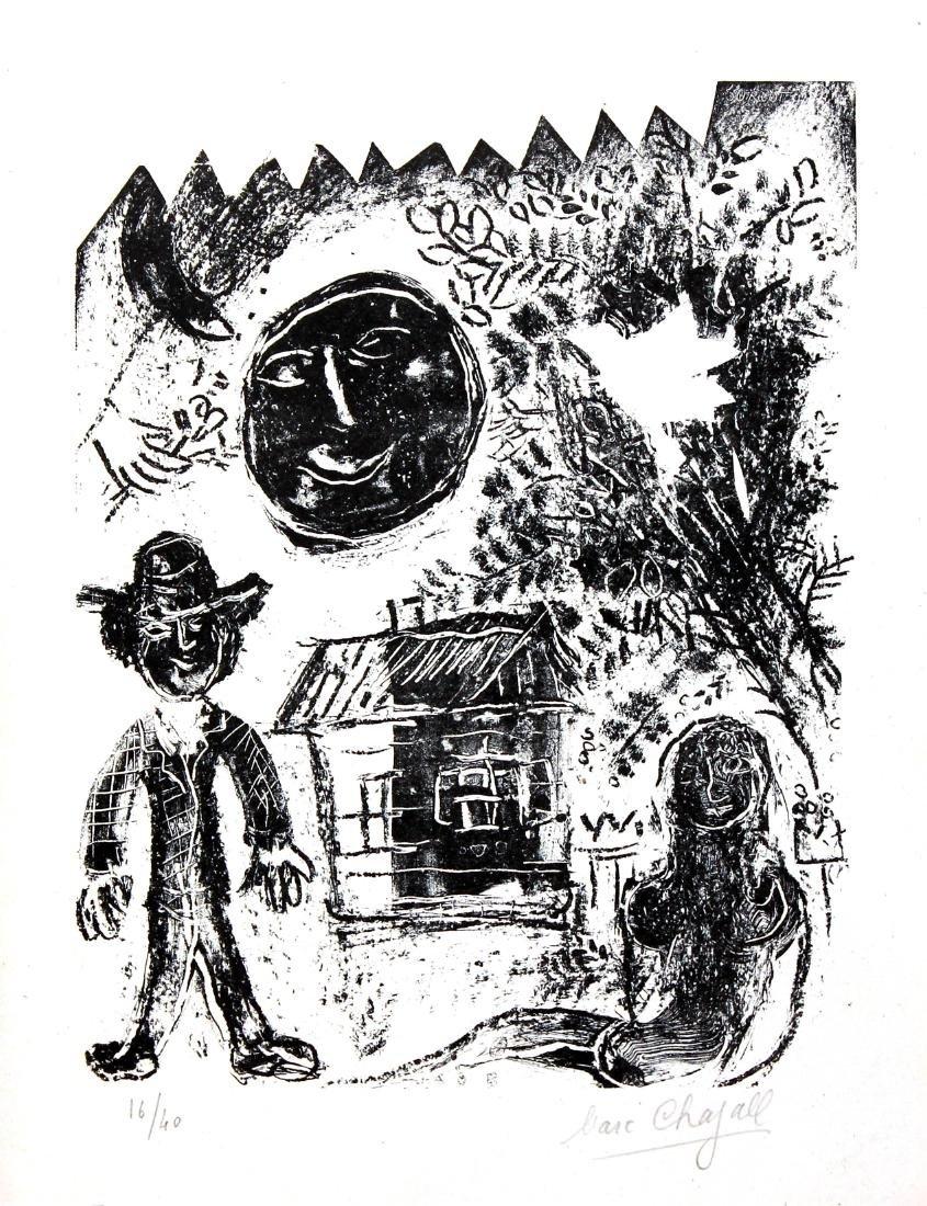 Marc Chagall - La Lune Noir