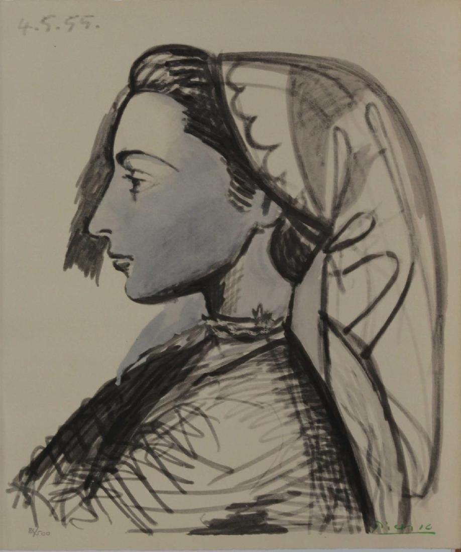 Pablo Picasso (After) - Portrait de Jacqueline