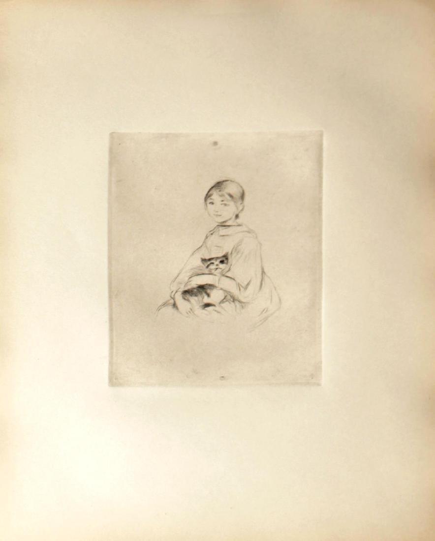 Berthe Morisot - Jeunne Fille au Chat