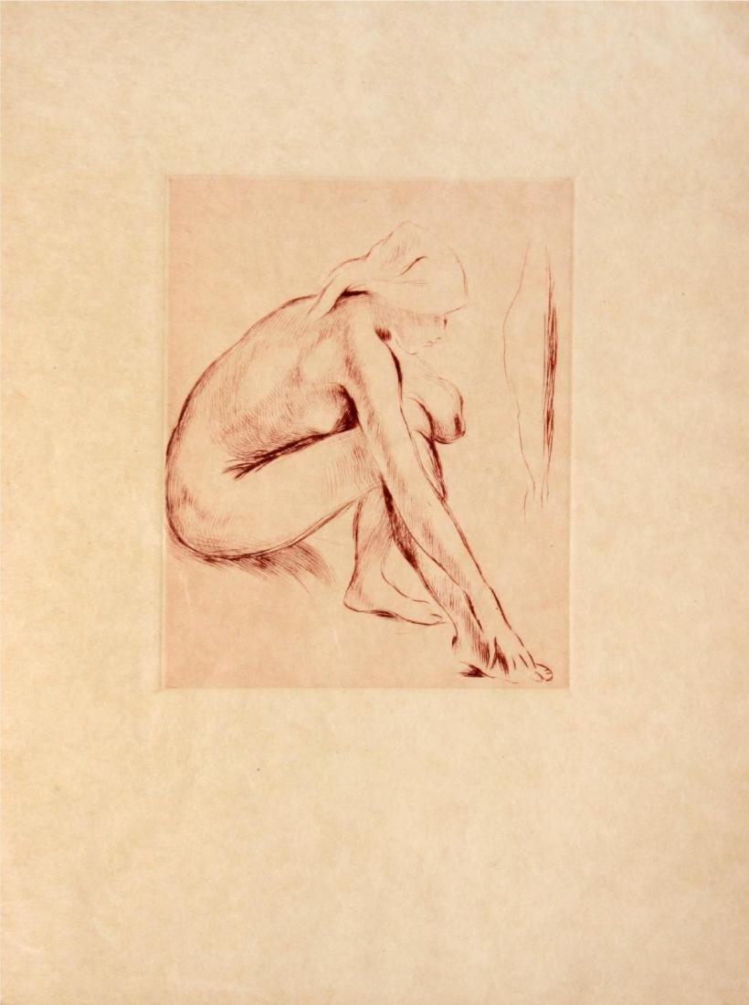 Berthe Morisot - Nude Sitting Holding a Knee