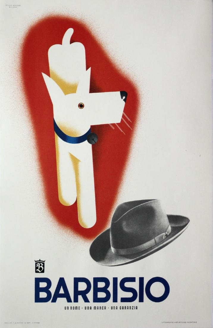 Vintage Poster - Italian Barbisio Hat Advertisement