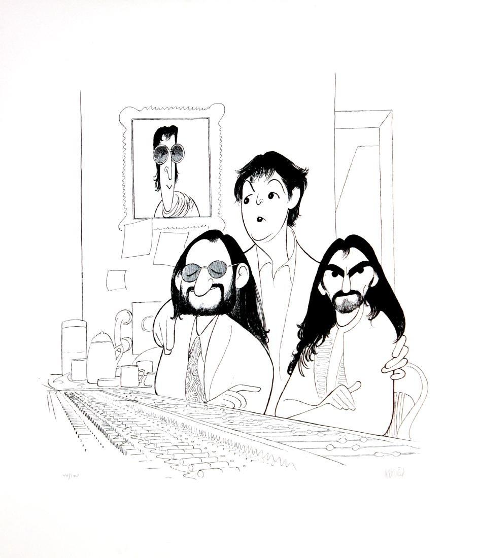 Al Hirschfeld - The Beatles
