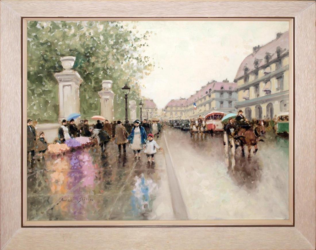 Andre Gisson - Untitled (Paris Street Scene)