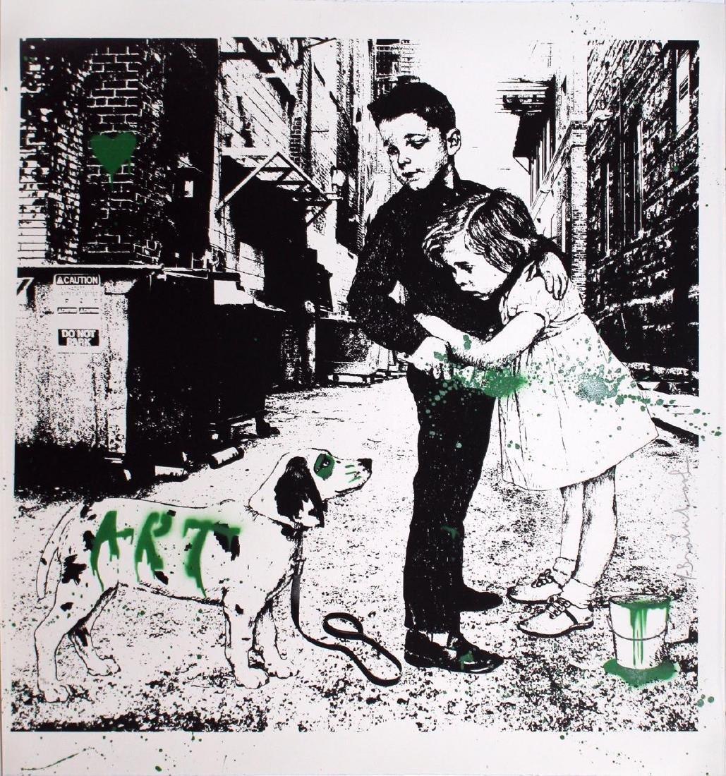 Mr. Brainwash - Pup Art (Green)
