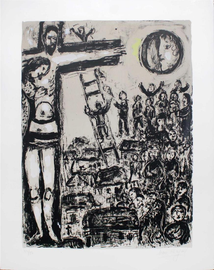 Marc Chagall - Grey Crucifixion