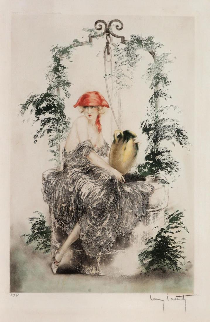 Louis Icart - Wishing Well