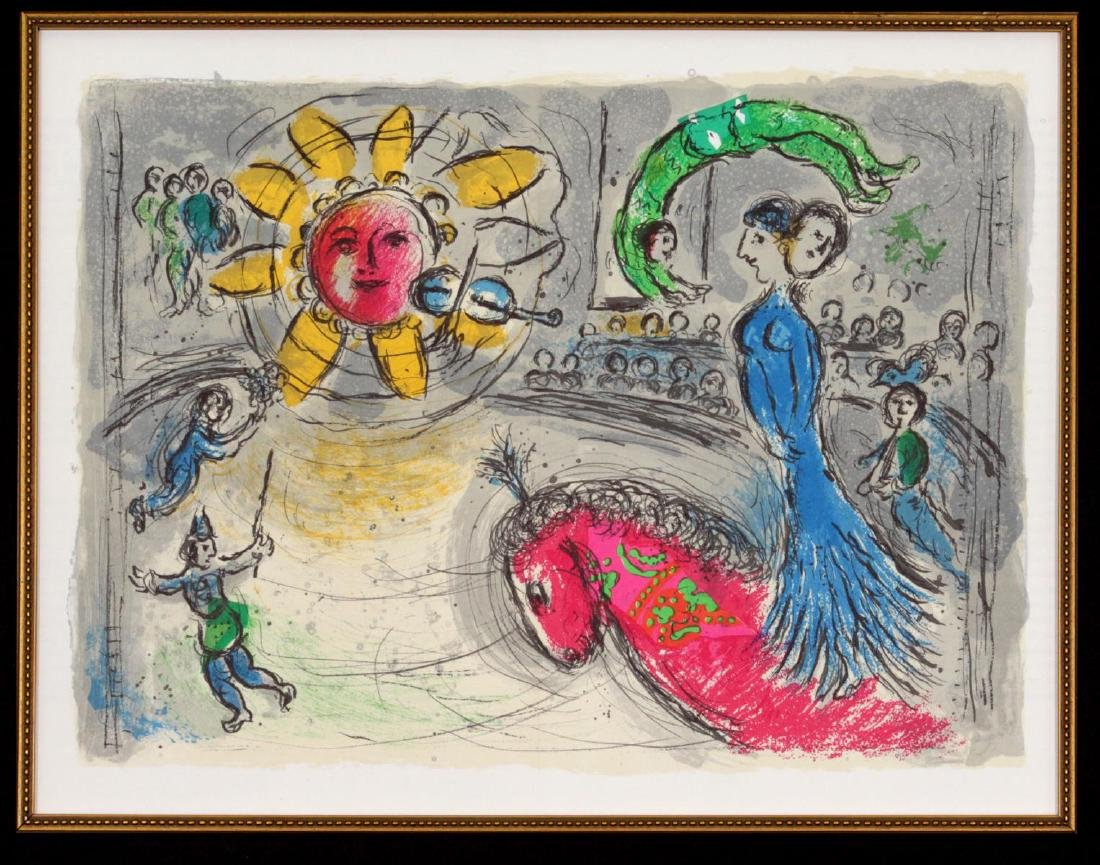 Marc Chagall - Soleil Au Cheval Rouge