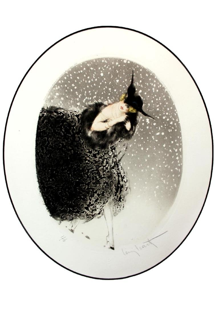 Louis Icart - Winter (Snowflakes)