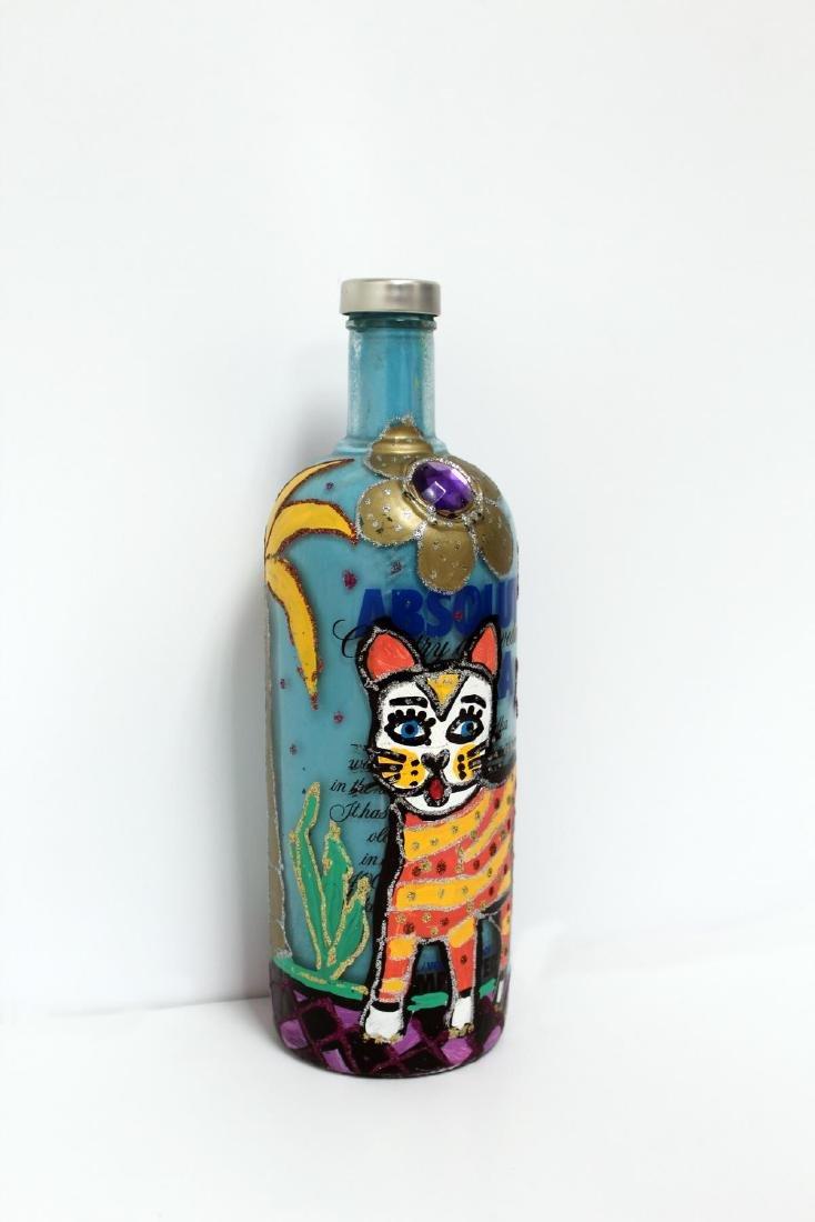 Jon Planas - Painted Absolut Vodka Bottle
