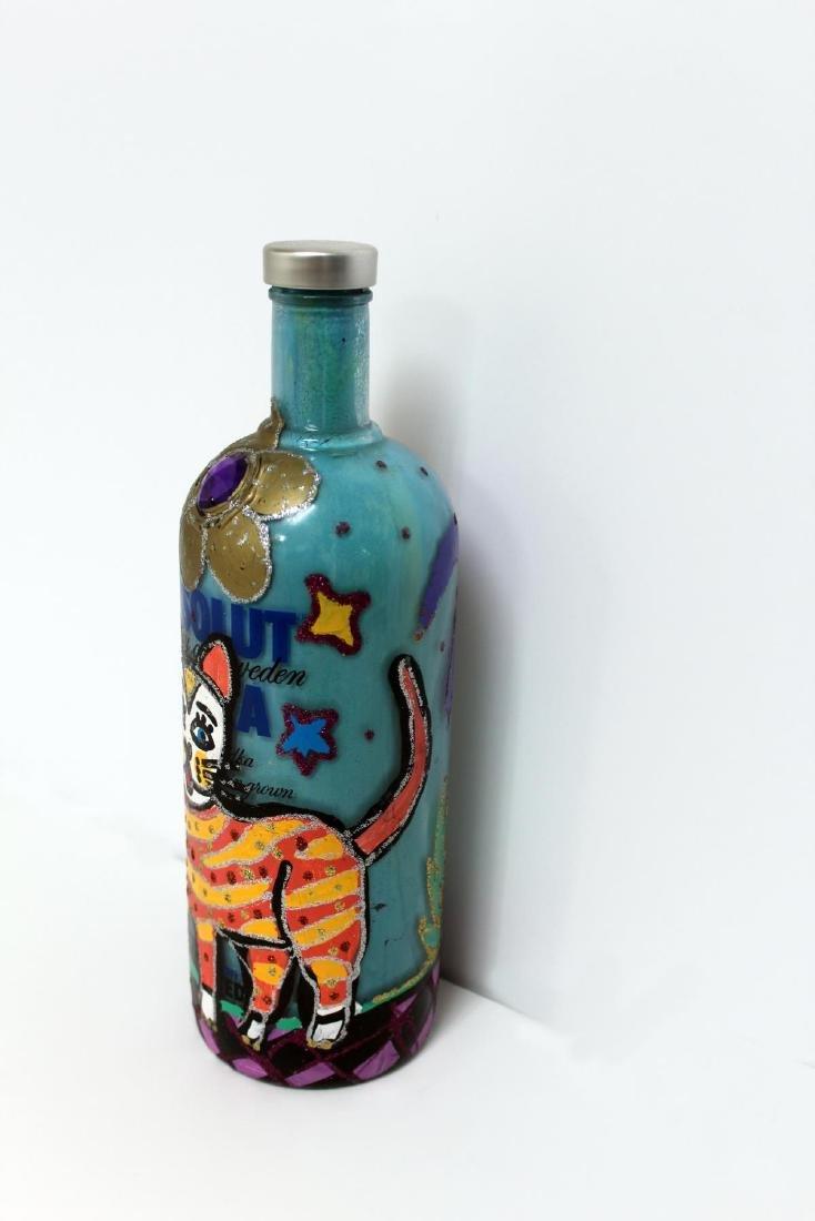 Jon Planas - Painted Absolut Vodka Bottle - 4