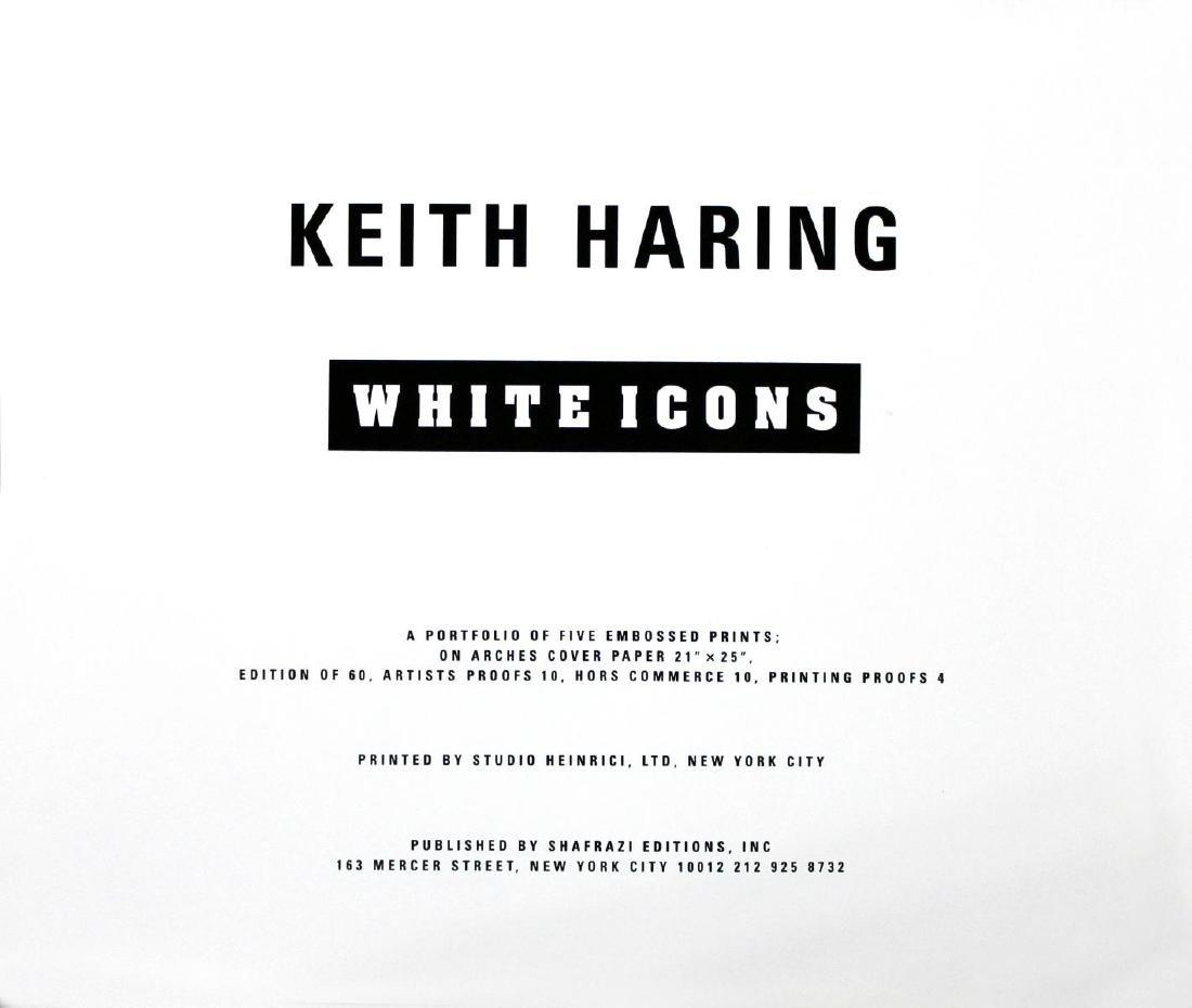 Keith Haring - White Icons Cover Portfolio and Tirage - 2
