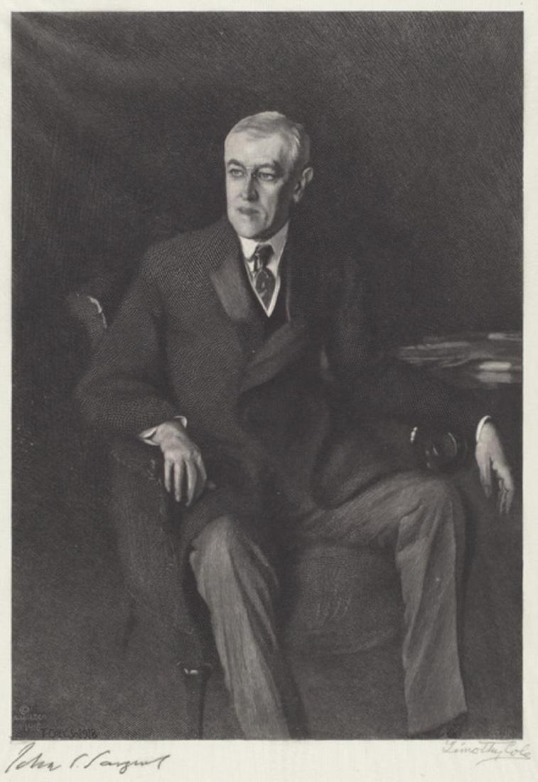 John Singer Sargent - Portrait of Thomas Woodrow Wilson