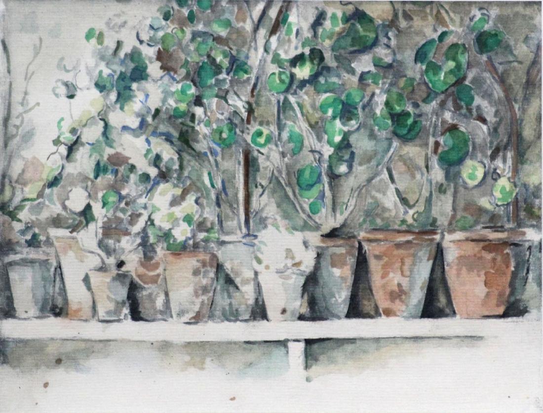 Paul Cezanne (After) - Les Pots de Geraniums