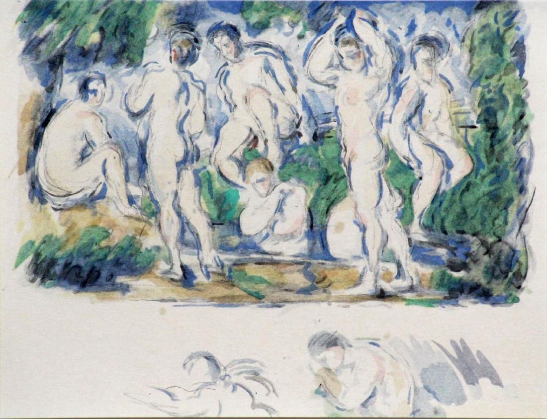 Paul Cezanne (After) - Baigneurs et Baigneuses