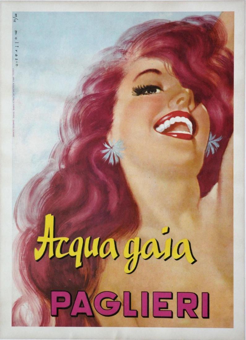 Vintage Poster - Acqua Gaia - Paglieri