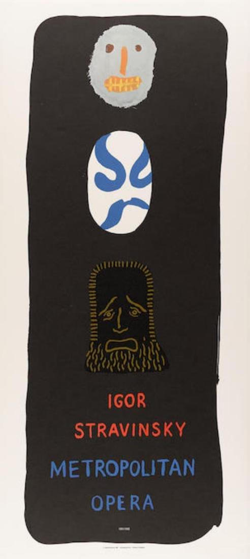 David Hockney - Igor Stravinsky: Metropolitan Opera