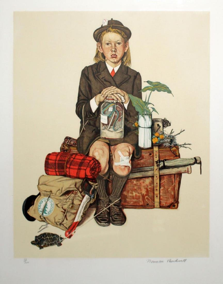 Norman Rockwell - Girl Returning from Camp