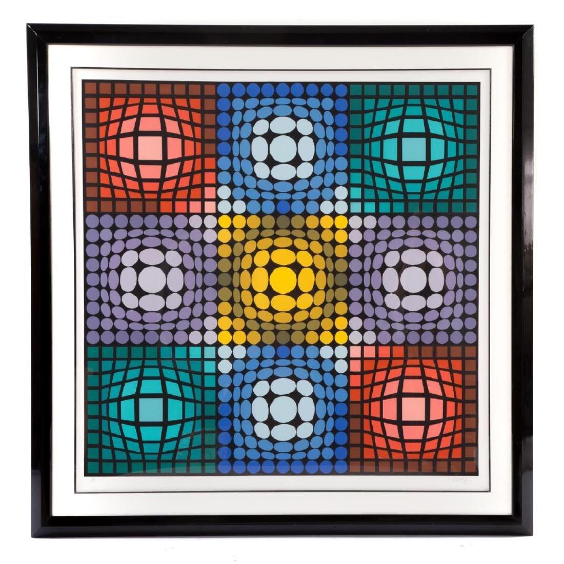 Victor Vasarely - Huge Untitled Op-Art Composition