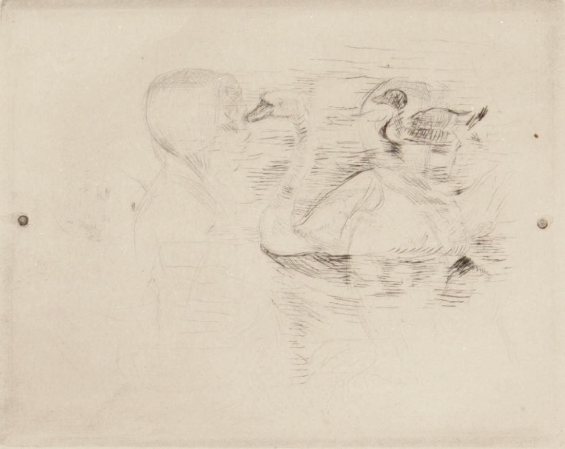 Berthe Morisot  - Swans at Stagnat Water