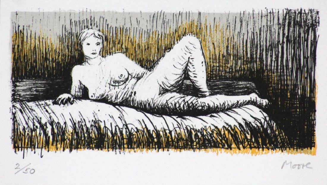 Henry Moore - Reclining Girl on Bed